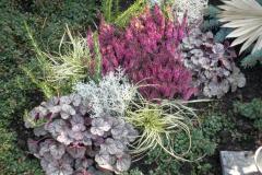 Herbstliche Grabbepflanzung
